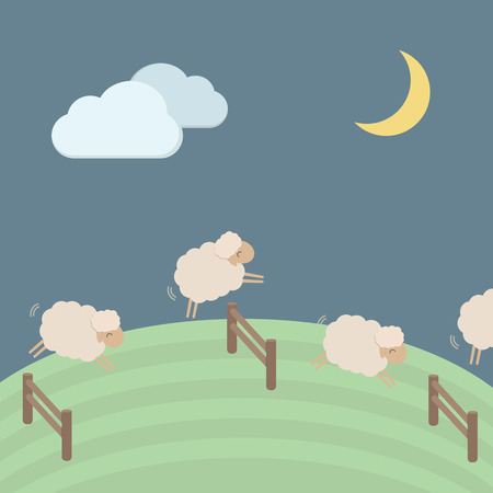 sheep wool: Cute sheep vector illustration for sleep concept EPS10