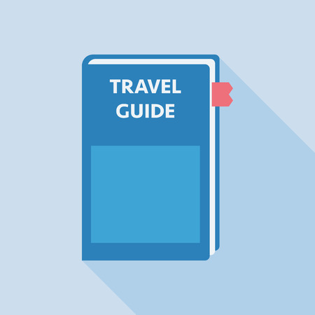wiki: Flat icon Travel Guild book with long shade EPS10 vector illustration