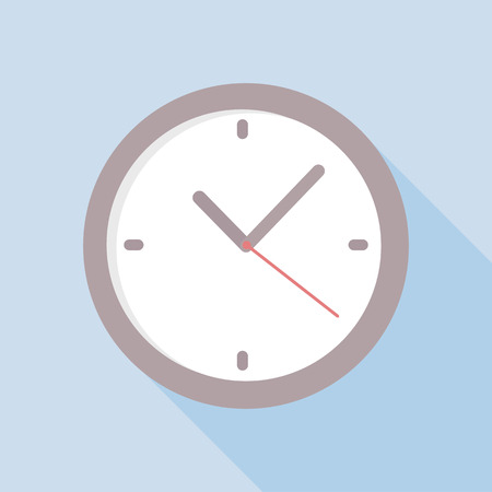 Clock icon  Vector illustration flat design with long shadow EPS10 vector illustration