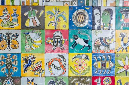 kolkata: Painting graphic at Kolkata airport,India