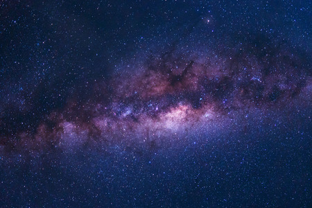 Colorful space shot of milky way galaxy with stars on a night sky background