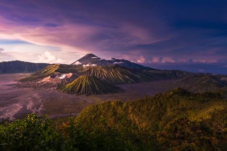 tengger: Mount Bromo volcanoes in Bromo Tengger Semeru National Park, East Java, Indonesia