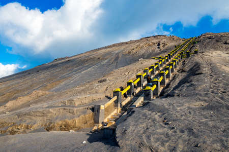 tengger: Strairway to Mount Bromo volcanoes in Bromo Tengger Semeru National Park, East Java, Indonesia