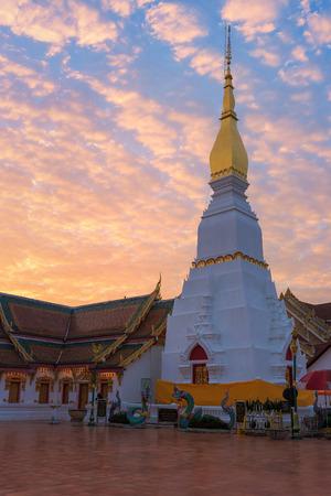 chum: Wat Pratat Choeng Chum, It is a major temple and sacred religious monument of Sakon Nakhon Province, Thailand Stock Photo