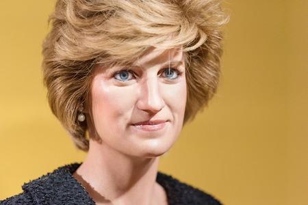clonacion: BANGKOK - ENE 29: Una figura de cera de la reina Diana en exhibición en el museo Madame Tussauds el 29 de enero de 2016 en Bangkok, Tailandia. más nuevos Madame Tussauds 'presenta la rama de cera de numerosas estrellas y celebridades