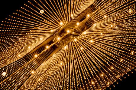 高級シャンデリア ライト パターン背景