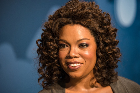 celeb: BANGKOK -JULY 22: A waxwork of Oprah Winfrey on display at Madame Tussauds on July 22, 2015 in Bangkok, Thailand. Madame Tussauds newest branch hosts waxworks of numerous stars and celebrities