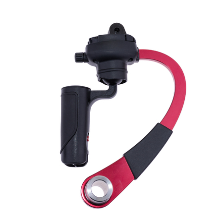 Small Handheld Manual Camera Stabilizer isolate on white background