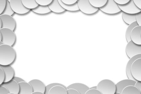 Abstract Paper circle banner with drop shadows frame background with copy space for placement your text artwork,Template mock up for montage your design and products