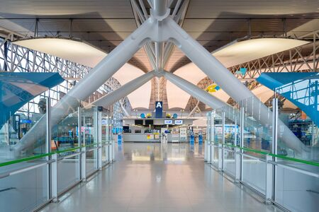 OSAKA, JAPAN-NOV 30: Interior of the Kansai International Airport on November 30,2016. Kansai International Airport (KIX) is one of Japan's most important international airports.