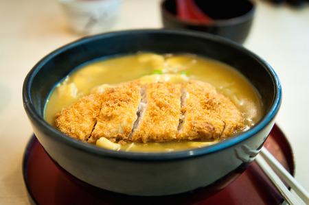breaded pork chop: Japanese curry pork chop rice