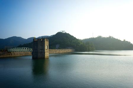 hk: reservoir lake the elan valley mid wales hk Stock Photo