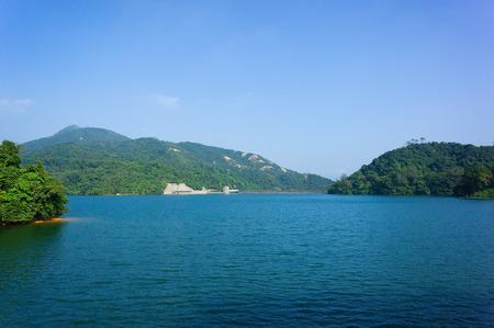 elan: reservoir lake the elan valley mid wales hk Stock Photo