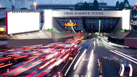 Speed busy Cross-harbour  Tunnel
