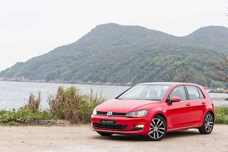 Volkswagen Golf VII GT 2013 Model with red colour.