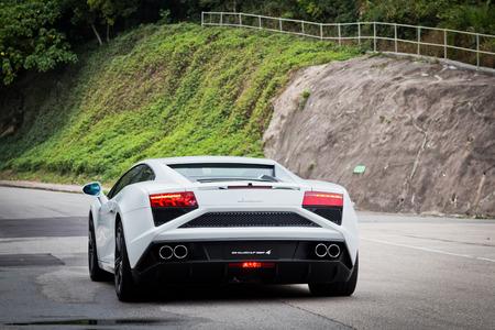 eos: Lamborghini LP560-4 Super Car in white colour Editorial