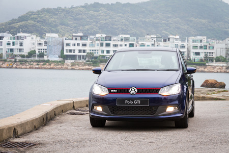 gti: Volkswagen Polo GTI 2013 Model with blue colour