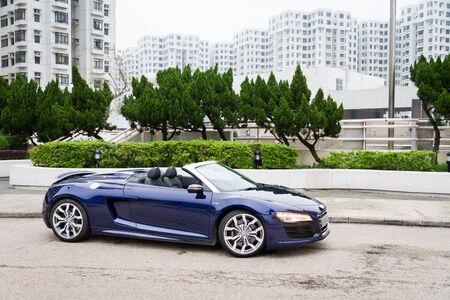 Audi R8 Spyder 2013 Model with blue colour.