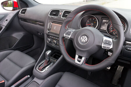 Volkswagen Golf GTI Cabriolet 2013 Model with red colour