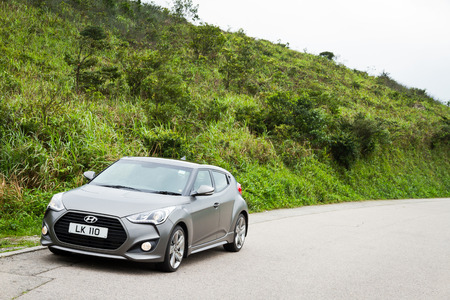 Hyundai Veloster 2013 Turbo Version with Gary Color.