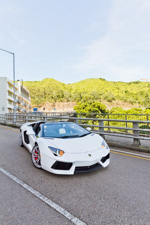 Lamborghini LP700-4 Super Car 2013 Model Limited Edition in Hong Kong Editorial