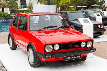 Volkswagen Golf 1974-1983 Model in media event Redakční