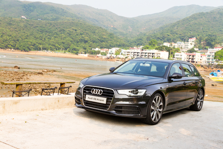 Audi A6 Avant 2012. Big trunk in this car, MAX store size. Editorial