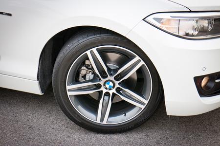 BMW 220i 2014 Sedan, all new series, small sedan. Reklamní fotografie - 27000089
