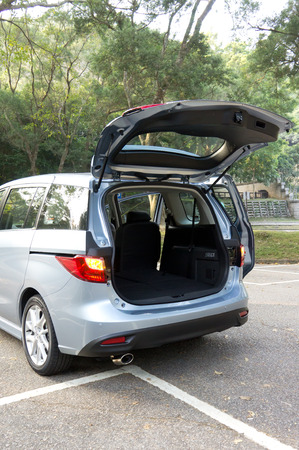 Hatchback car trunke for store luggage