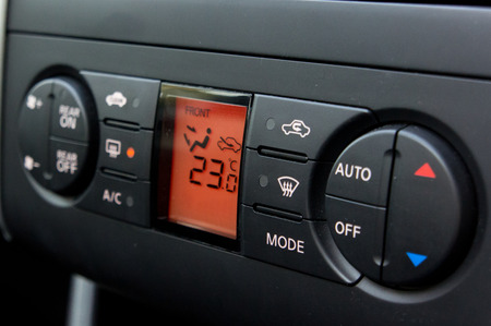 air conditioner control in car, with electronic control.