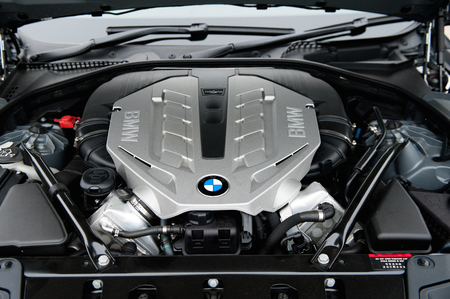 bmw: Engine of the famous racing car bmw sport car.