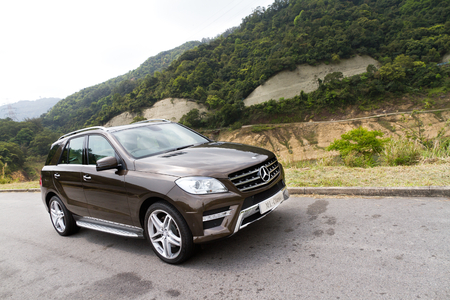 Mercedes-Benz ML-Class ML500 SUV 2012. Big size SUV, top performance in off road. Editorial