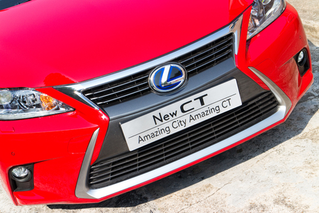 lexus: Lexus CT 200h Hybrid Car 2014, with red colour. this is facelift model.