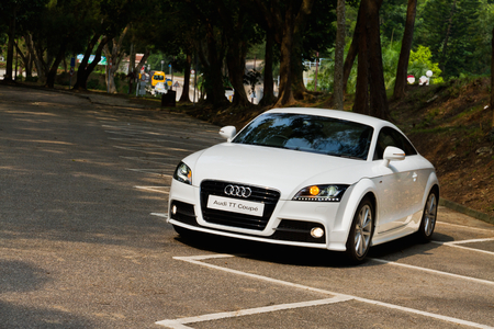 coupe: Audi TT Coupe 2012. This is new look, white colour.