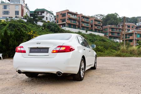 infiniti: Infiniti M35h 2012, high grade hybrid sedan.