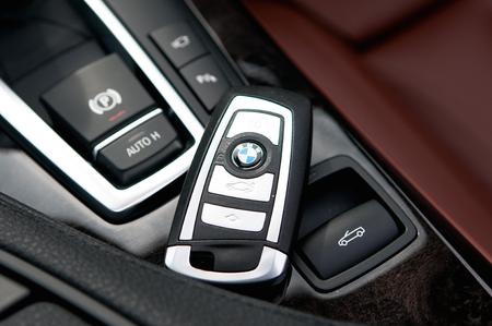 BMW keyless, the newest bmw car key  multi function, open door, open trunk door, start car  Editorial