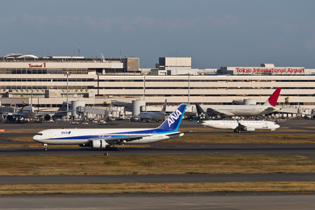 ANA Landing and Take OffTokyo International Airport