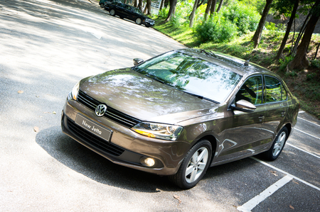 Volkswagen New Jetta display in Hong Kong 2011 Editorial