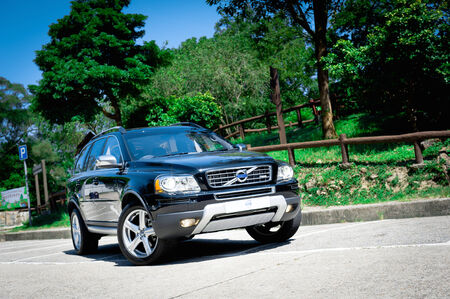 Volvo XC 90 T5 AWD display in Hong Kong 2011 Editorial