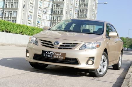 Hong Kong 2010 年トヨタ カローラ表示