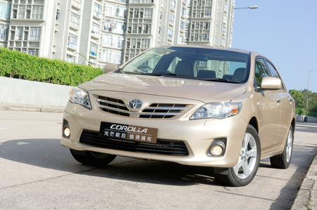 Toyota Corolla display in Hong Kong 2010 Editorial