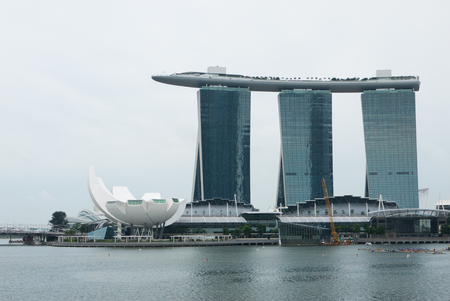 standalone: SINGAPORE-MARCH 19 : Marina Bay Sands Resort Hotel on March 19, 2012 in Singapore. It is billed as the worlds most expensive standalone casino property at S$8 billion.