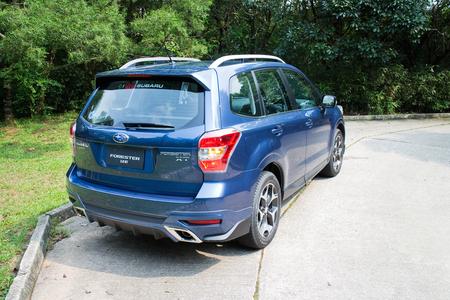 Hong Kong, China May 12, 2014 : Subaru Forester 2014 Option Test Drive on May 12 2014 in Hong Kong.