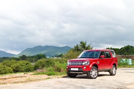 Hong Kong, China May 13, 2014 : Land Rover Discovery 4 Test Drive on May 13 2014 in Hong Kong.
