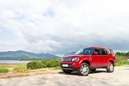 Hong Kong, China May 13, 2014 : Land Rover Discovery 4 Test Drive on May 13 2014 in Hong Kong. Editorial