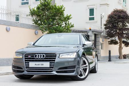 Hong Kong, China June 6, 2014 : Audi S8 test drive on June 6 2014 in Hong Kong.