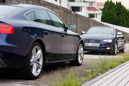 test drive: Hong Kong, China Jun 3, 2014 : Audi S5 and S5 Cabriolet 2014 test drive on Jun 3 2014 in Hong Kong. Editorial