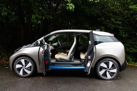 Hong Kong, China Aug 19, 2014 : BMW i3 e-drive 2014 test drive on Aug 19 2014 in Hong Kong.