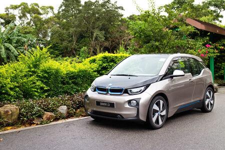 i3: Hong Kong, China Aug 19, 2014 : BMW i3 e-drive 2014 test drive on Aug 19 2014 in Hong Kong.