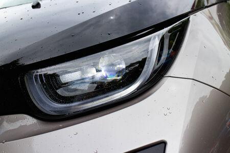i3: Hong Kong, China Aug 19, 2014 : BMW i3 e-drive 2014 Lamp on Aug 19 2014 in Hong Kong. Editorial